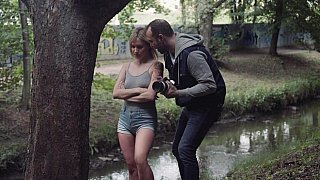 Erotic photo shoot in_the_forest image