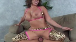 Ava Devine punished anally and gags on cock image