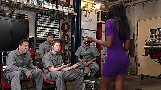 Black girl gangbanged_in the garage image
