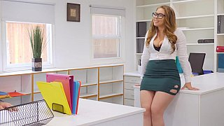 Busty babe getting fucked in_the office image
