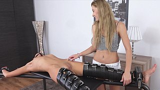 Tortured by tickling and vibrating image