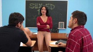 French MILF Anissa Kate shows off her big naturals image