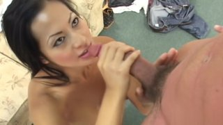 Housewife goes for cock on casting coach in front of husband image