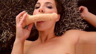 Crazy sex video Brunette fantastic only for you image