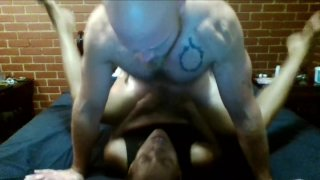 White Boy licks Ebony MILF's Asshole_then dicks her down and makes her cum image