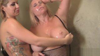 Savana Styles and Karen Fisher Shower Rub Down image
