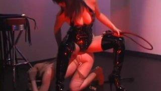 2 mistress whips female slave hard image