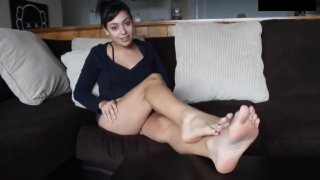 Light Skin Girls Feet | Foot Fetish JOI Game | Red_Light Green Light | POV! image