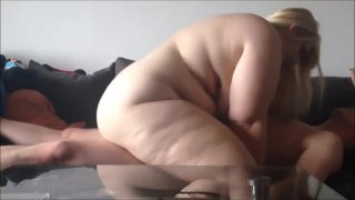 Beautiful blonde BBW has her pussy fucked image