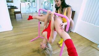 Abella Danger and Gina Valentina are warming up image