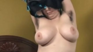 Hairy Chubby Ex Girlfriend masturbating with a vibrator image