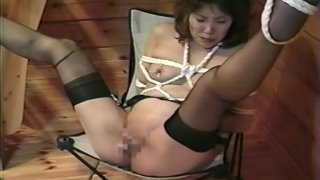 Image: Sexy Asian pussy pleasures while hogtied