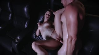 ExxxtraSmall - Hot Teen Fucks Stepbro In Movie Theatre image