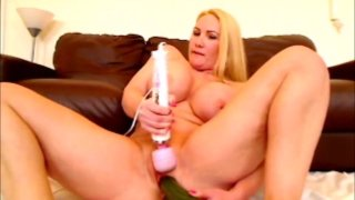 DP with cucumbers both holes fucked loud orgasm image