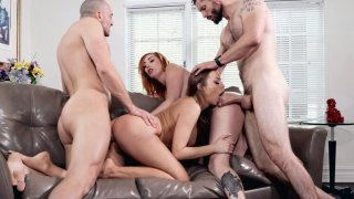 Britney Amber and Lauren Phillips get fucked doggystyle image
