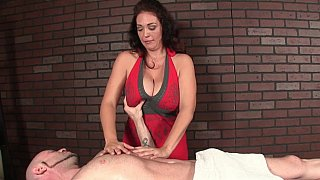 Milf with huge_natural tits massaging image