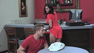 Oral sex in a diner image