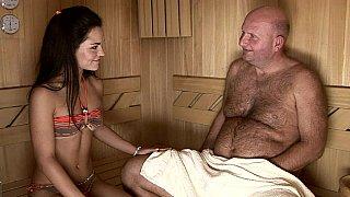 Intergenerational sauna sex image
