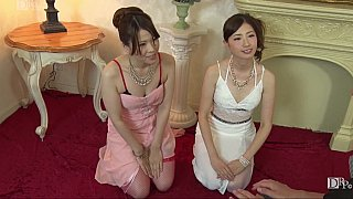 JAV CFNM action with two girls image