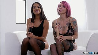 Hot Joi with two alternative babes image