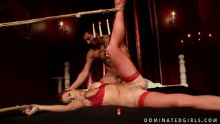 Katy Parker is being fucked while all tied up image