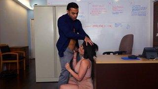 Latina mom gets creampie at work image