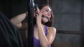 bondage Mandy very uncomfortable and whipping make her screaming image