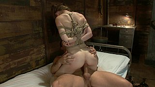 Cute Sensi Pearl gets fucked in suspended position image
