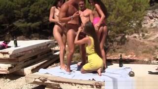 Image: sophomore babes outdoors beach sex orgy
