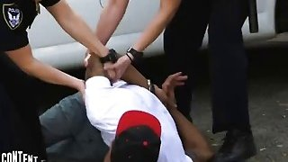 Interracial outdoor threesome fucking with hot police officers and_BBC image