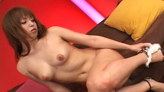 Tasty shaved pussy of Japanese babe Ichika gets stimulated with toys image