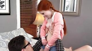 Image: Horny tutor fucks with redhead teen Dolly
