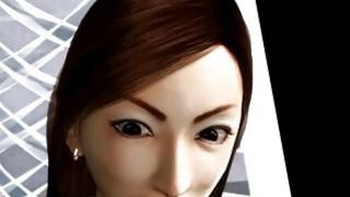 3D hentai MILF gets big breasts tortured image