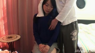 Shy Japanese girl Mayu Kudo doesn't show that she is horny image