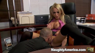 Office lady Nikki Benz fucks with her subordinate Mick in front of the web camera image
