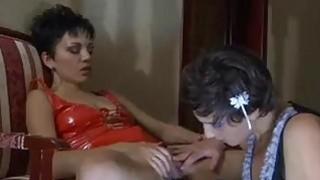Lesbian anal sex video image
