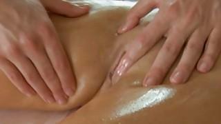 Lass gives wild oral job after fleshly massage image