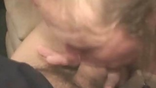 Dirty Blonde Crack Whore Slurps On Dick For Fast Pay image