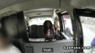 Ebony babe interracial_bangs in a cab image