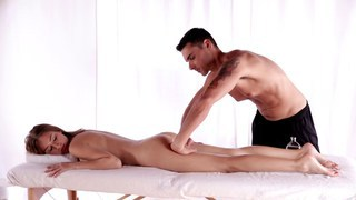 Nubile Films - Teen cutie massaged and fucked image
