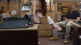 Sexy babe pawns her pussy and pounded by horny pawn keeper image