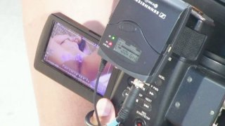 Behind the scene video with solo masturbating girl_Cathy Heaven image