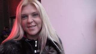 Amy in slutty blonde enjoying porn hard core in restroom image