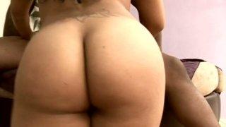 Torn Latino slut Millian Blu gets nailed hard by a strong black dick image