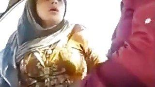 Image: Good looking Pakistani slut sucks a cock in the car