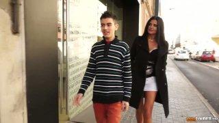 Romanian milf Soraya Rico hooks up with two hot blooded guys image