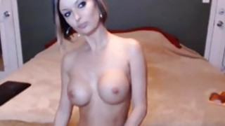 Busty babe with wonderful body toying on webcam image