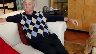 Lucky Old Man Gets Dick Sucked By Two Naughty Teenage_Sluts image