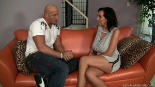 Image: Kinky slut Alia Janine gives a rimjob to Christian XXX