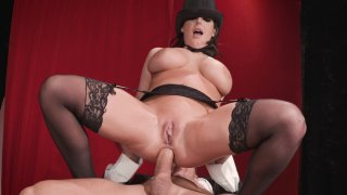 Busty mom Angela White anally rides the big prick image
